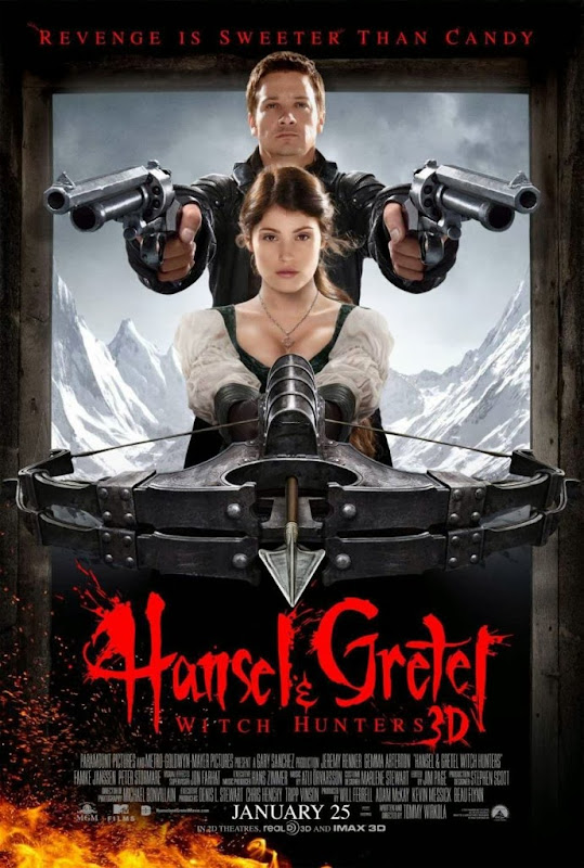 Poster Of Hansel & Gretel Witch Hunters (2013) Full Movie Hindi Dubbed Free Download Watch Online At Alldownloads4u.Com