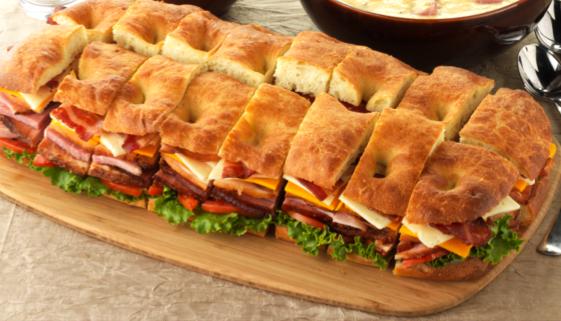 HoneyBaked Ham Catering: HoneyBaked Ham Super Sandwich #HoneyBakedGameDay