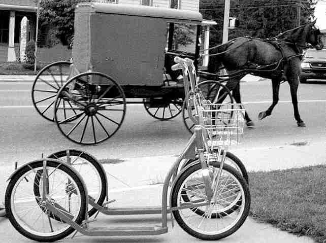 Trottinette Amish à roues de 16 ou 20 pouces