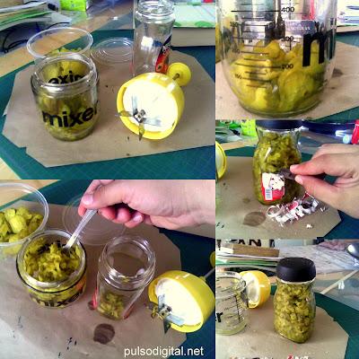 Almacenando los pepinillos encurtido 2