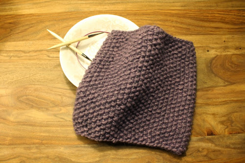 Not 2 late to craft: Coll de punt d'arròs / Seed stitch knitted cowl