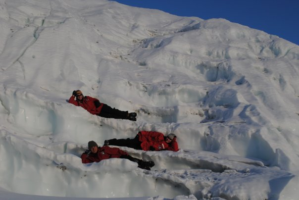 Exploring the glaciers in the Dry Valleys, 2009-2010 season (photo by A. Chiuchiolo)