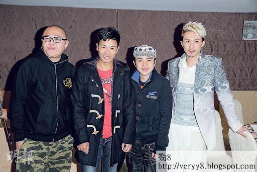 《老表》收視高開,林盛斌(左起)、郭晉安、王祖藍及張繼聰飲得杯落了。(攝影/記者:林祖傑)