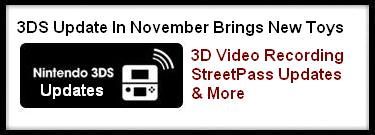 3DS Update In November Brings New 3DS Toys