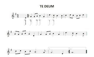 Partitura de la Sintonía de Eurovisión Partitura de Te Deaum de Charpentier en clave de sol