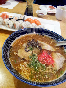 Sushi and Ramen at Hakatamon restaurant