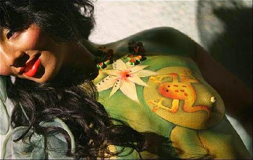 Asian Body Art  Body Paint   Body Art Pictures Gallery