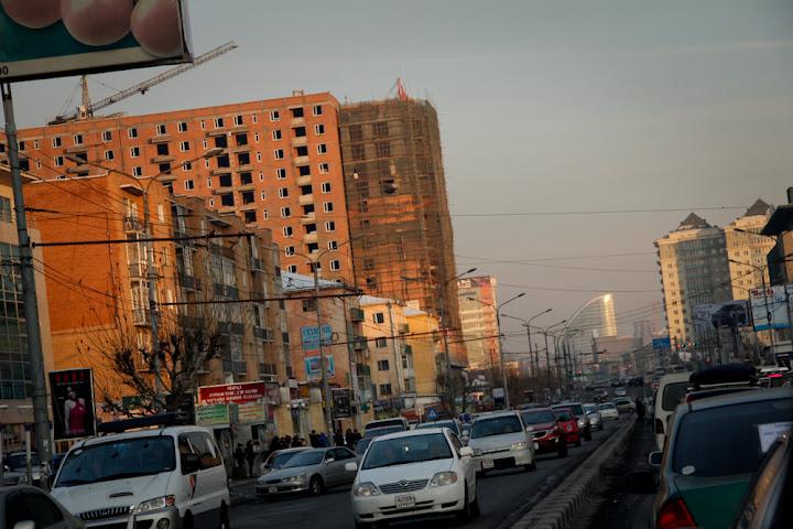 Peace Ave in Ulaanbaatar