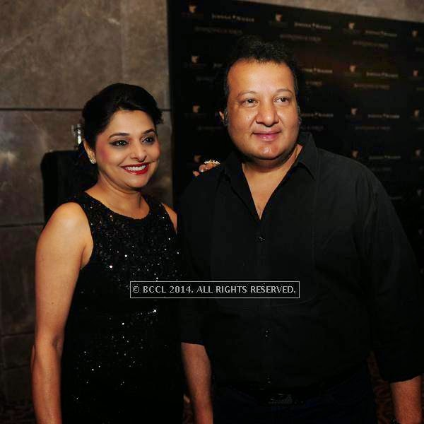 Alka and Monu Bali at designer Shantanu and Nikhil Mehra's Autumn Winter Couture pre and post-show party, hosted at the JW Marriott Hotel New Delhi Aerocity.
