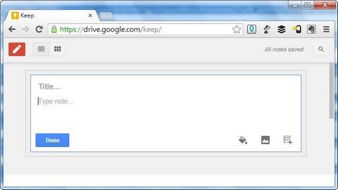 Google Keep Web Interface