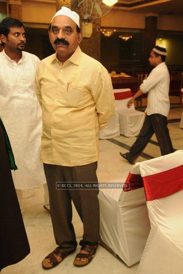 MD Farooq during the iftaar party, in Hyderabad.