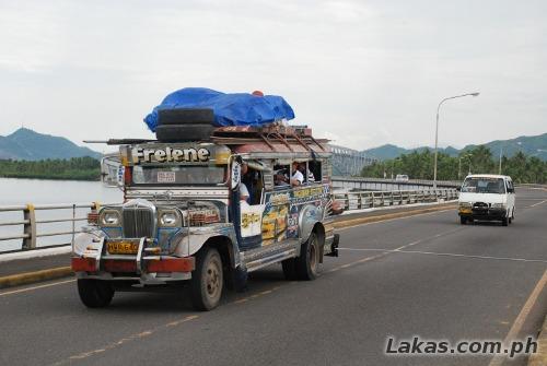 Jeepney going to Santa Rita, Samar
