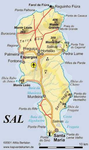 Mapa Ilha do Sal