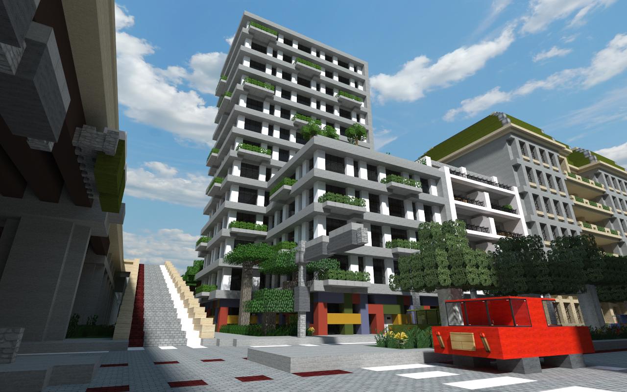 Map Minecraft De Ville O Ef Bf Bd Il Y A Un Centre