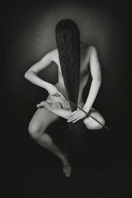 female long hair art music