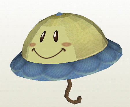 Perry the Parasol Papercraft