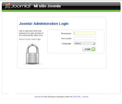 Interfaz de administración de Joomla!