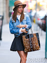Miranda Kerr in Short Blue