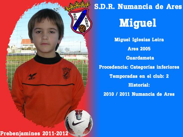 ADR Numancia de Ares. Prebenxamíns 2011-2012. MIGUEL