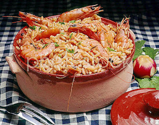 Γαρίδες πιλάφι,Shrimp pilaf.