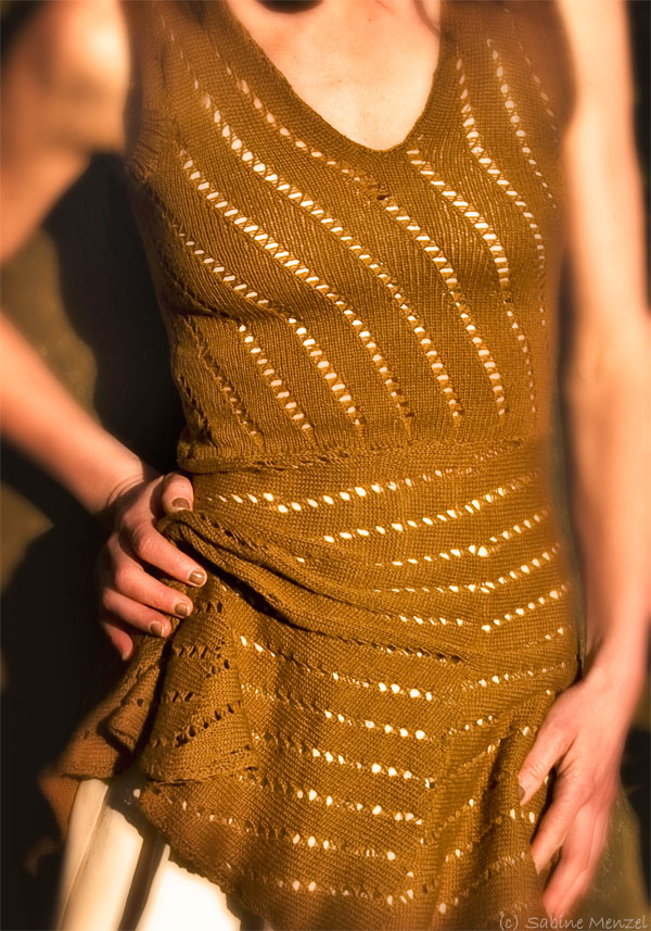 Psynopsis Self-Knitted Brown Dress