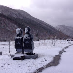 Korea Sculptures in snow fall