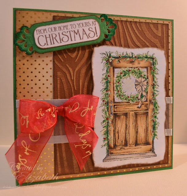 Elizabeth Whisson, handmade card, Christmas Door, Our Daily Bread Designs, ODBD, christmas, copic