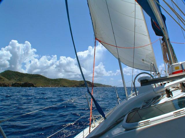 Sailing the Sir Francis Drake Channel, British Virgin Islands.