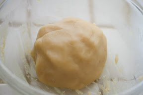 photo of the dough in a bowl
