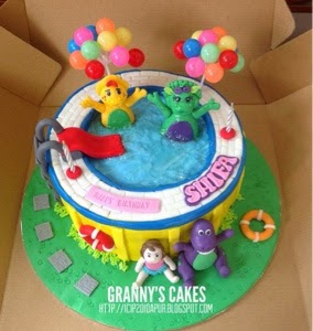 barne in the pool cake for shifa