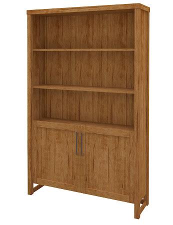 Sumatra Wooden Door Bookshelf in Como Maple