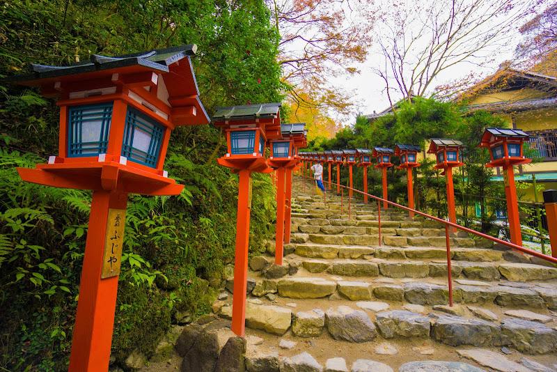 京都 貴船神社 紅葉 写真2