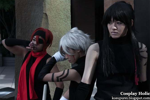 d. gray-man cosplay - lavi, allen walker, and kanda yu