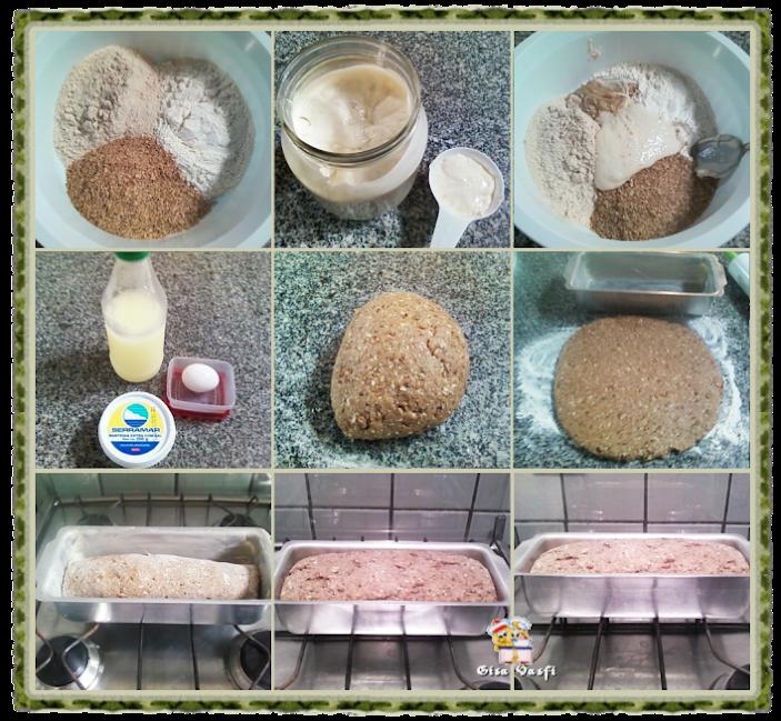 Pão integral com trigo em grãos