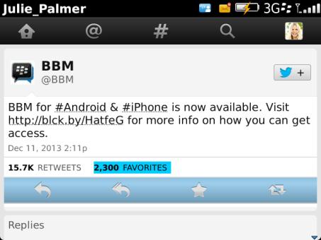 Twitter v4.5.0.11 for BlackBerry