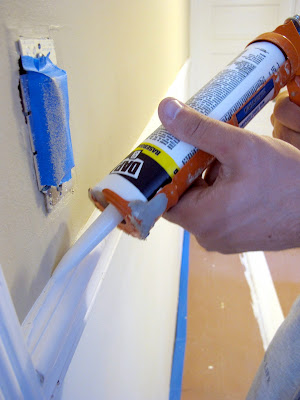 how to caulk chair rail