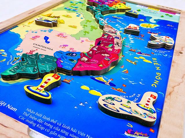 Image result for bản đồ việt nam thu nhỏ bằng gỗ cho bé