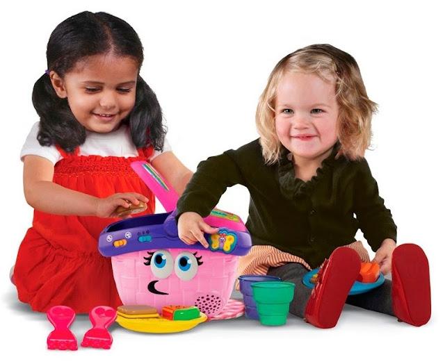 Đồ chơi Giỏ picnic màu hồng LeapFrog được làm từ chất liệu an toàn