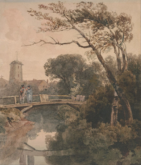 Peter De Wint - The Old Bridge - Google Art Project