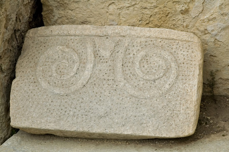 Hagar Qim - Stone Slab with Spirals