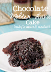 Chocolate Molten Lava Cake in the Microwave