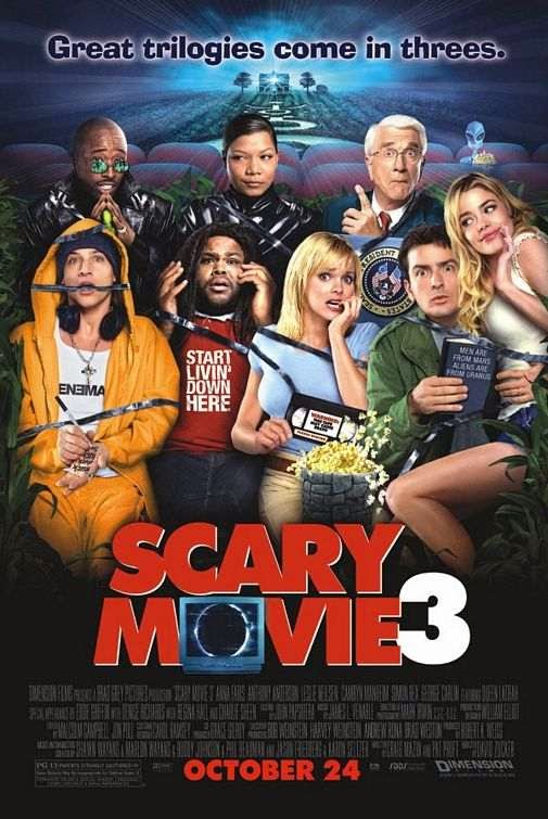 Poster Of Scary Movie 3 (2003) Full Movie Hindi Dubbed Free Download Watch Online At Alldownloads4u.Com