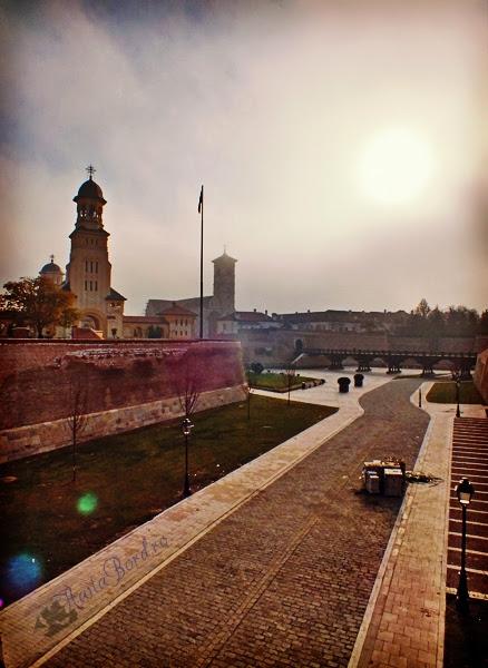 cetatea alba iulia in ceata