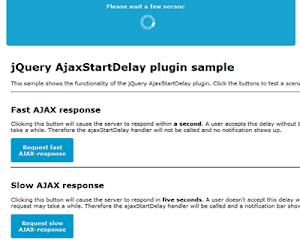 AjaxStartDelay – Delay Before AJAX Request