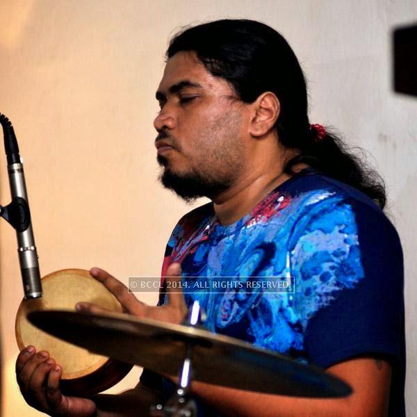 Gabu from the band Bramhakhyapa performs at Plush in Kolkata.