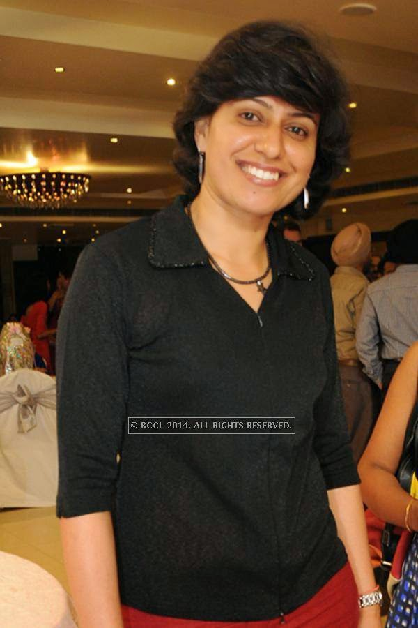 Anjum Chopra during the wedding anniversary.