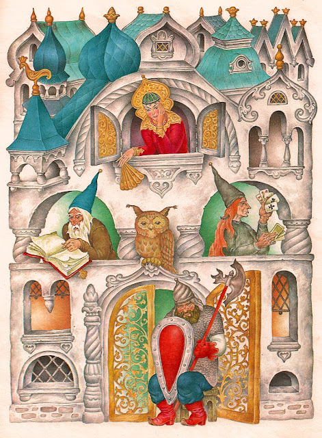 Дворец царицы, жены финиста - ясна сокола