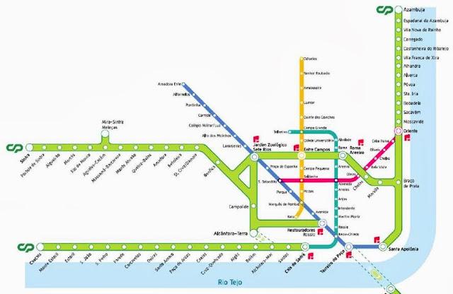 схема метро Лиссабона