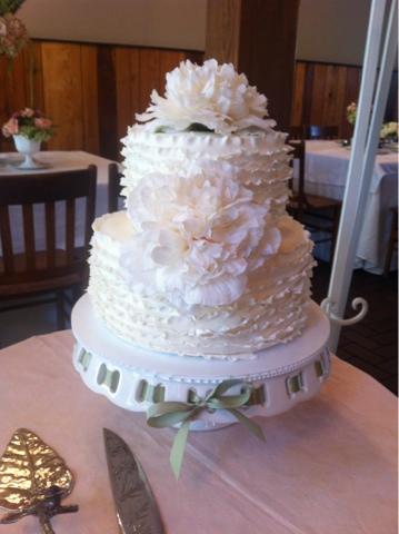 Baked Goods: Ruffle Wedding Cake