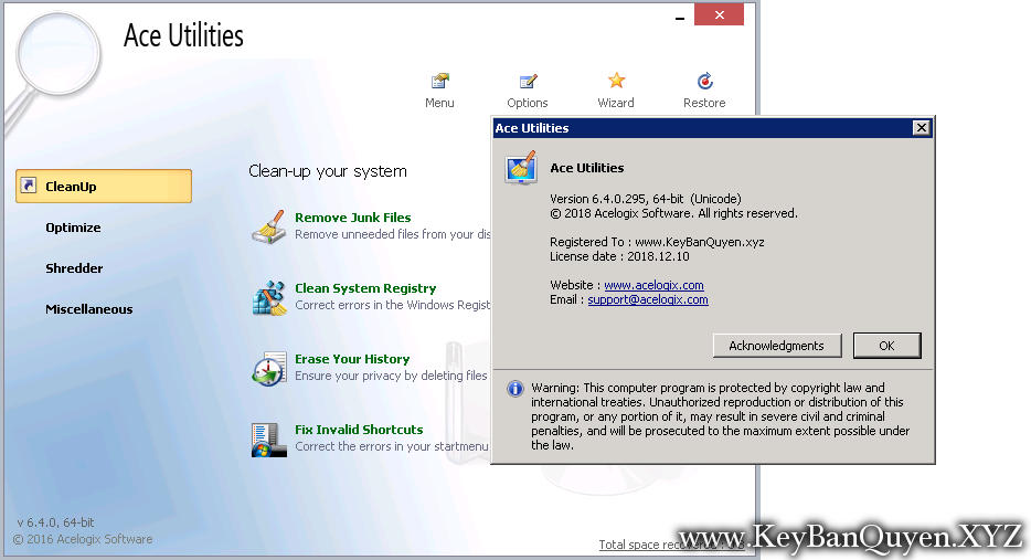 ace utilities free download full version with key